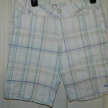 Hurley Juniors Girls Orange Plaid Bermuda Shorts 3 Photo