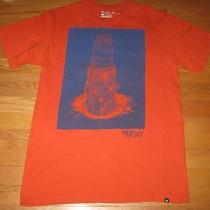 Hurley M Orange Tee Shirt Top Novelty Board Wood Photo