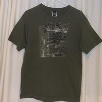 Hurley Med Mens T-Shirt Green With Graphics Photo