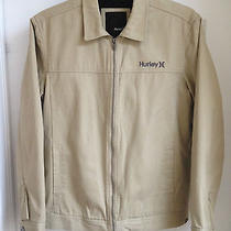 Hurley Mens Beige Khaki Jacket With Black Sherpa Fleece Lining M Nwt Msrp 85 Photo
