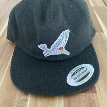 Hurley Men's Black Gray Dawn Patrol Hat Baseball Cap New Tags One Size Yupoong Photo
