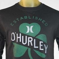 Hurley Men's Black Pull-Over/sweatshirt W/logo