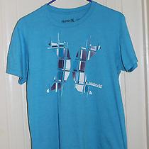 Hurley Men's Blue Graphic T-Shirt Medium  Photo
