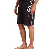 Hurley Men's Bolt Board Shorts Black Swimsuit Size 30 Photo