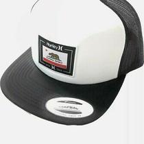 Hurley Men's California Republic Trucker Hat Cap Black / White Snapback Adjust Photo