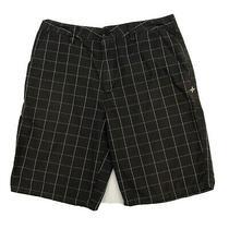 Hurley Mens Chino Shorts Size 34 Measure 32x10 Brown Checked Photo