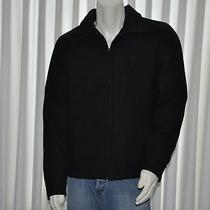 Hurley Mens Coat Size Medium M Solid Black Full Zip Lined Padded New Photo