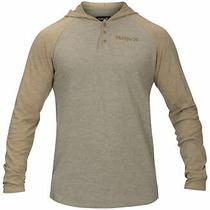 Hurley Mens Hoodie Beige Size 2xl Colby Thermal Henley Colorblock 45 024 Photo