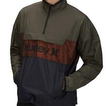 Hurley Mens Jacket Blue Green Size 2xl Windbreaker Anorak Mesh Logo 80 467 Photo