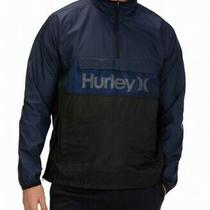 Hurley Mens Jacket Blue Size Small S Siege Anorak Logo Windbreaker 80 100 Photo