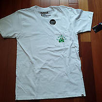 Hurley Mens Shirt White Nwt Medium Skate Surf T-Shirt o'hurley Clover Photo