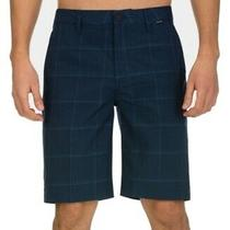 Hurley Mens Shorts Blue Size 36 Board Surf Granada Plaid Printed 45 226 Photo