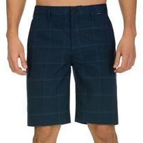 Hurley Mens Shorts Navy Blue Size 29 Windowpane Granada 20