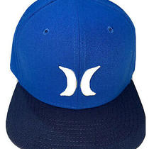 Hurley Mens Snapback Hat Cap Team Royal Blue One and Only Embroider Puffy Logo L Photo