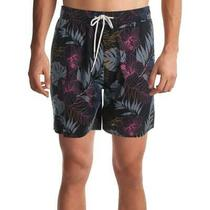 Hurley Mens Swimwear Black Size Medium M Tropical Print Trunks Shorts 50 651 Photo