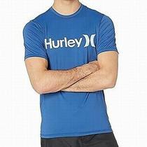 Hurley Mens Swimwear Blue Size Small S Rashguard Logo Printed Upf 30 176 Photo