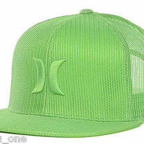 Hurley Mesher Trucker Cap Hat Green Classics Snapback Asp Surfing Skate New Photo
