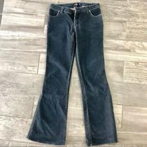 Hurley Navy Blue Micro Corduroy Jeans Low Rise Flare Sz. 1 Juniors Photo