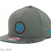 Hurley New Era Nike Dri-Fit Super Fuse Grey Neon Cyan Asp Surf Snapback Cap Hat Photo