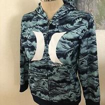 Hurley Nike Therma-Fit Waves Blue Full Zip Hoodie Womens Size Lrg Photo