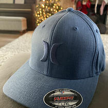 Hurley One and Only Flex Fit Textured Stretch Fit Hat Cap Heather Blue Sz L-Xl Photo