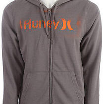 Hurley One & Only Stencil Hoodie Heather Graphite Mens Sz M Photo
