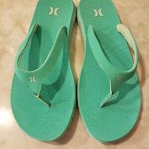 Hurley Phantom Free Teal Flip Flop Sandals Women's Size 10 Photo