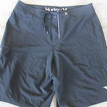 Hurley Phantom Mens Black Board Shorts Size 36 Euc Photo