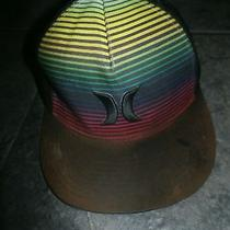 Hurley Rainbow Striped Snap Back Hat Photo