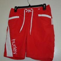 Hurley Red Surf & Swim Boardshorts Size 0 Photo