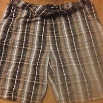 Hurley Shorts New Mens Plaid Size 34 (Little Paint Spots) Photo