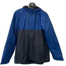 Hurley Siege Sherpa Hooded Lined Windbreaker Men's Jacket Medium Costal Blue Photo