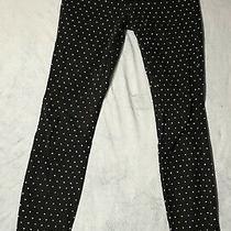 Hurley Skinny Legging Jegging Pants Jeans Womens Size 27 Polka Dot Denim Black Photo
