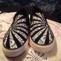 Hurley Slip on Comfort Recreation Shoes Black and White 9d Sweet Photo