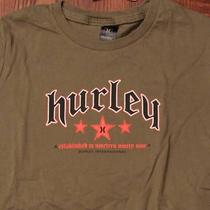 Hurley Surf Surfing Beach Style Small Green Womens T-Shirt Photo