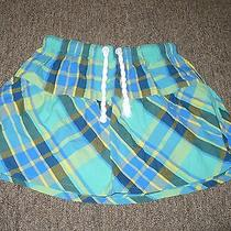 Hurley Surfer Plaid Rope Tie Skirt Medium Tiered Photo