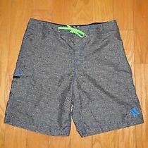 Hurley Swim Shorts Size 36 Heather Gray Blue Men's Trunks Board Photo