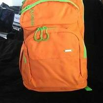 Hurley Sync Backpack Orange Green Book Bag New With Tags Mg Photo