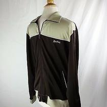 Hurley Track Warmup Jacket Full Zip Logo Striped Brown & Green Men's Sz M Medium Photo