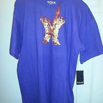 Hurley Tshirt Graphic Tee Nwt Extra Large Skate Action Sport 100% Cotton Purple Photo