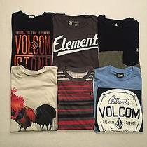 Hurley Volcom Element T-Shirt Lot of 6 All Men's Size Small Photo