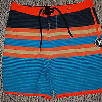 Hurley Warp 3 Orange Blue Phantom Board Shorts Nwt Size 34 Photo