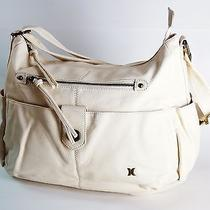 Hurley White Handbag Faux Leather Snow White Photo