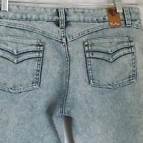 Hurley Women's Jeans  Blue Denim Wide Leg Bootcut Button Fly Size 722 Photo