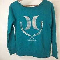 Hurley Womens Small Sweatshirt Sweater Blue Classic Excellent Condition 3 Photo