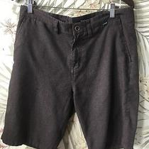 Hurley Wool Shorts Surfer Vintage Brown Retro  Photo