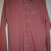 Hurley Young Men's Size M Red/white Plaid Dress Shirt Pre-Owned....nice Photo