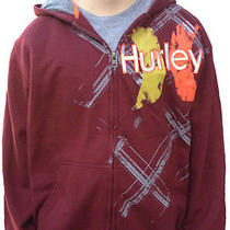 Hurley Youth Boys Hoodie Jacket Large Mahogany Photo