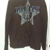 Hurley Zip Up Hoodie Unisex Brown Size Large Photo