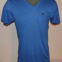 Hurly Blue v-Neck T-Shirt Photo